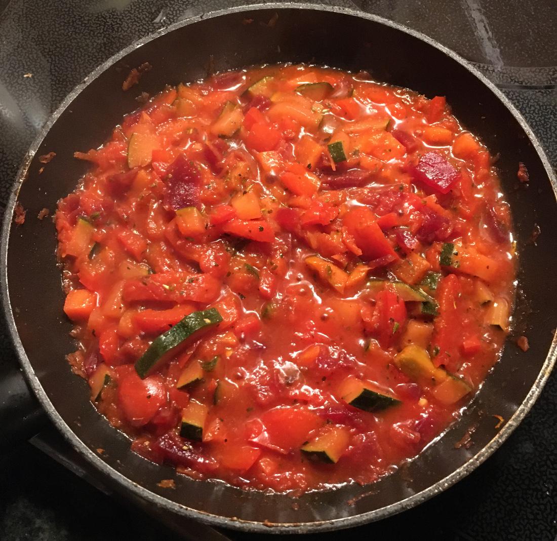 Meine rote Gemüsesauce aus dem Rezept
